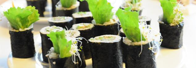 Sushi végétal Cuit Lu Cru