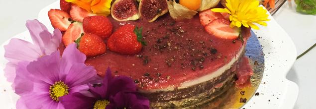 Dessert Figuier Fraise Pistache